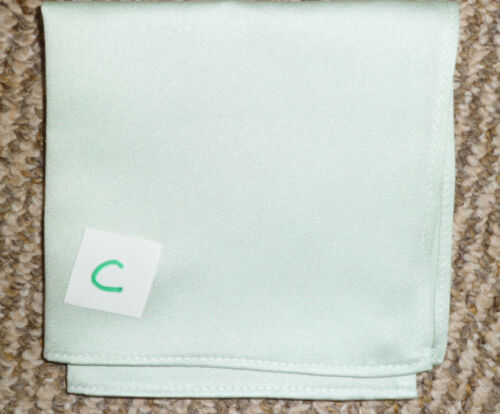 EX HIRE SOME NEW POCKET HANDKERCHIEFS SQUARES LIME OR BEIGE WEDDING FORMAL