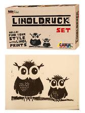 15101 Linoldruckset, Linoldruck Set, Linoldruckfarbe, Linolplatte, Einsteigerset