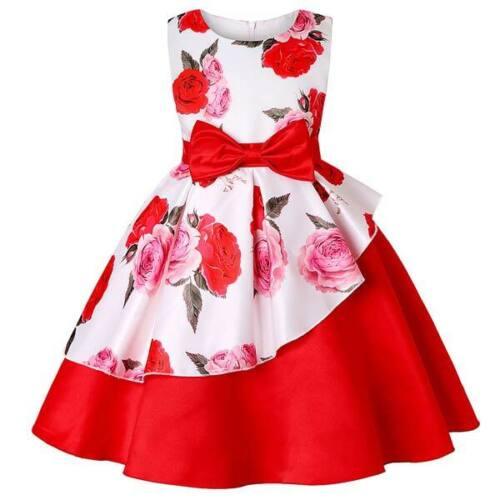 Kid bridesmaid girl princess dress party dresses baby tutu formal flower wedding
