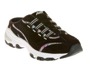 Avia-Women-039-s-Black-Memory-Foam-Slip-on-Athletic-Mule-Walking-Sneakers-Shoe-6-11