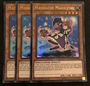 YUGIOH 3x Madolche Magileine DUOV-EN068 1st Edition Ultra Rare PLAYSET