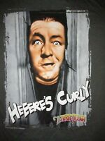 The Three Stooges Here's Curly T Shirt Sz M Classic Tv Show Comedy Shining