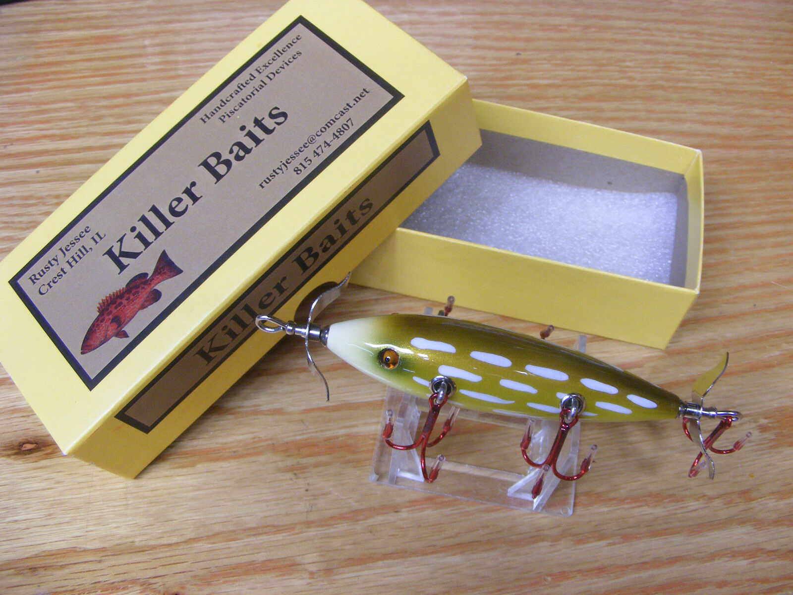 Killer Baits Rusty Jessee Heddon Little Sac Style  Glasseye 150 in Northern Pike  everyday low prices