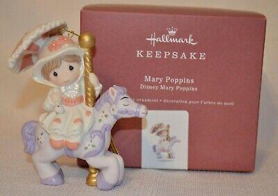 MARY POPPINS HALLMARK ORNAMENT 2018 PRECIOUS MOMENTS DISNEY PORCELAIN NEW