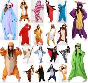 molto carino 2a8b4 d771e Details about Hot Unisex Adult Pajamas Kigurumi Cosplay Costume Animal  Sleepwear Suit
