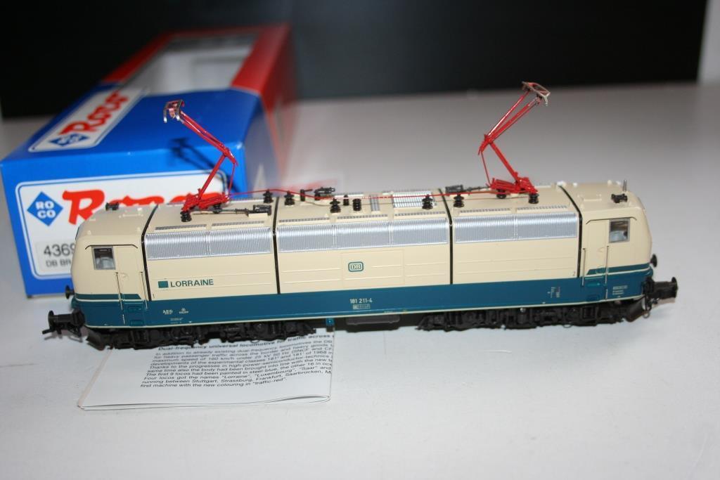 Roco pista h0  43692 elektrolokomotive br 181 211-4 de la DB, Lorraine, embalaje original