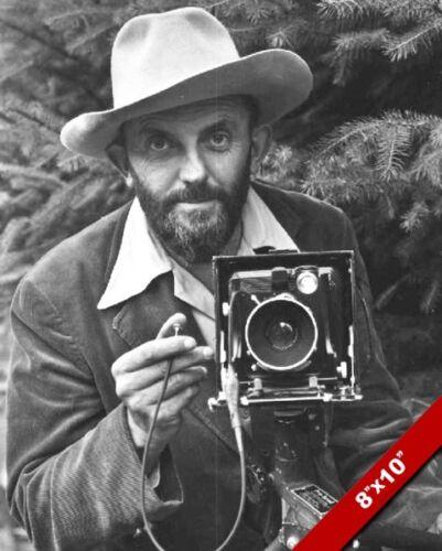 PHOTO OF MASTER PHOTOGRAPHER ANSEL ADAMS PORTRAIT ART ON REAL CANVAS PRINT