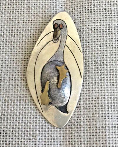 Cast Figural Horse Brooch Metales Casados Sterling Silver Mexico