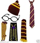 Harry Potter Yellow STRIPE Griffindor Fancy Dress Scarf Tie Socks Hat Glasses