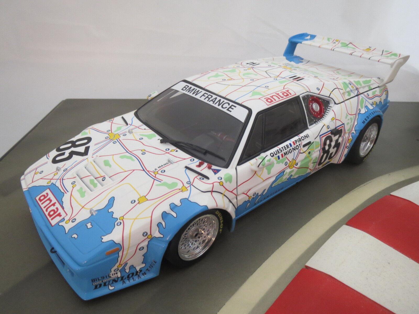 Point fort    bmw-m1 -  Carte de France  - 24h Le Mans 1980-en 1 18 de Minichamps