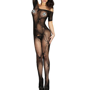 07795a8671 ... Tutina-donna-intimo-bodystocking-catsuit-crotchless-pizzo-sexy-