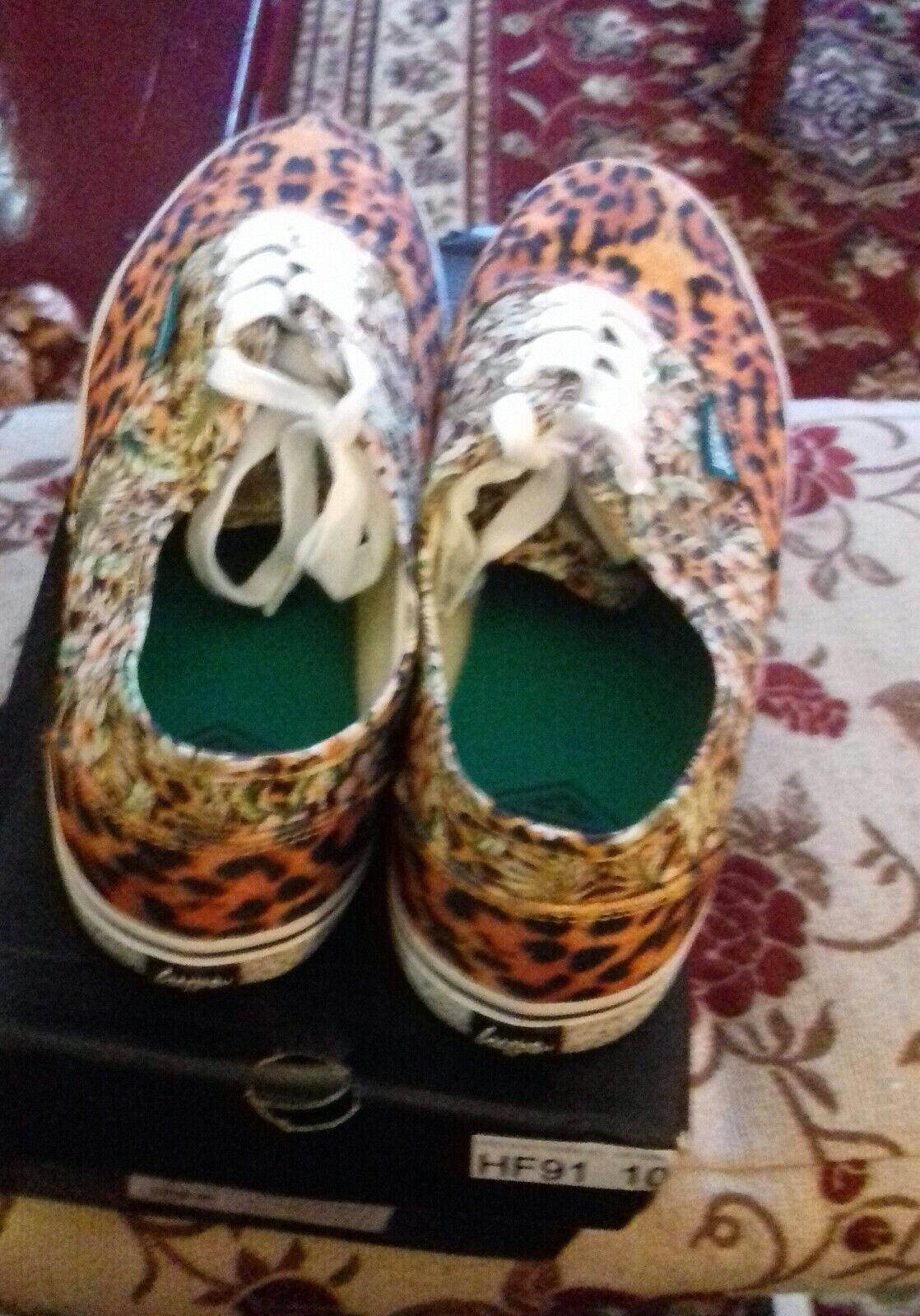 Just Hype Adults Canvas Shoes, Hype Mens shoes,Size 10 tropical print