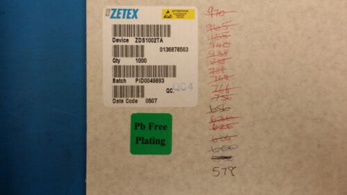 2 PCS ZDS1002TA ZETEX Complementary Current Mirror 8-Pin SOT-223