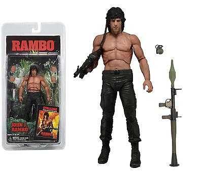 "RAMBO FIRST BLOOD PART II (2) 1985 JOHN J. RAMBO 7"" INCH ACTION FIGURE NECA"