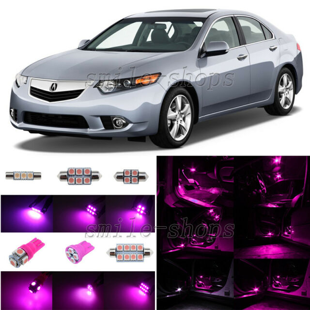 10pcs Pink/Purple LED Interior Light Package Fit For 2009