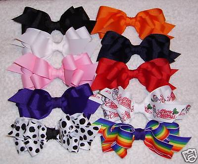 "/""10 DOUBLE-LAYERED BOUTIQUE HAIRBOWS/"""