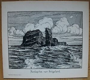 Helgoland-Ansicht-von-Norden-aus-Friedrich-Wachenhusen-um-1910