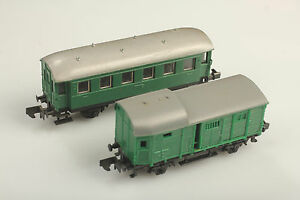 N in Set Länder Railway #1 2 Car Dirt / Defects/ SCRAP NO orig.