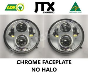 "JTX, 1pr. Chrome LED Headlights, 5 3/4"", No Halo"