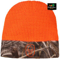 Hard Core Brands Waffle Knit Fleece Beanie Toboggan Blaze Orange Max-5 Camo