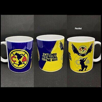 11oz Ceramic Coffee white Mug Club America taza Message me to add name