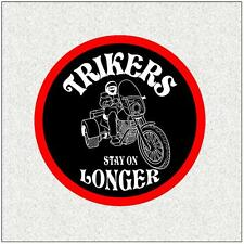 "TRIKER  4"" BIKER BADGE PRINTED SEW ON CLOTH BADGE MOTORBIKE"