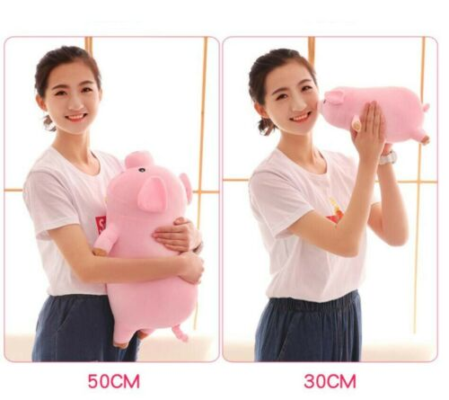 "30cm//11.8/"" Pink Pig Soft Plush Toy Sleeping Piggy Stuffed Animals Pillow Gift"