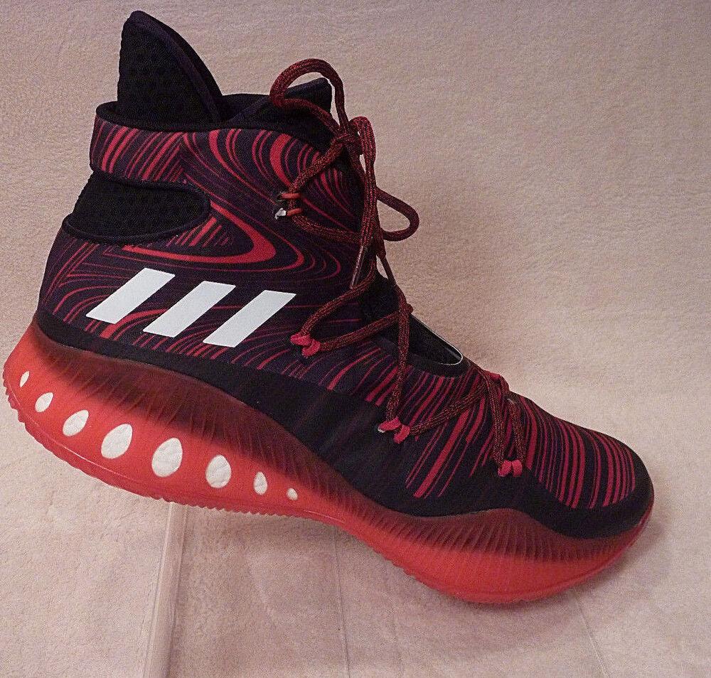 MEN 17 ADIDAS SM CRAZY EXPLOSIVE NBA BASKETBALL chaussures B38863 rouge noir BOOST