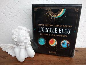 Oracle-Bleu-coffret-jeu-de-cartes-divinatoires-traditionel-en-Francais-livre