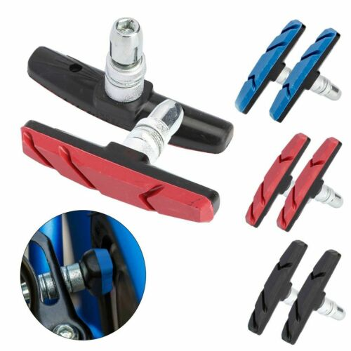 2 Pcs Mountain Bike Cycling V Brake Holder Pads Rubber Durable Performance 70mm