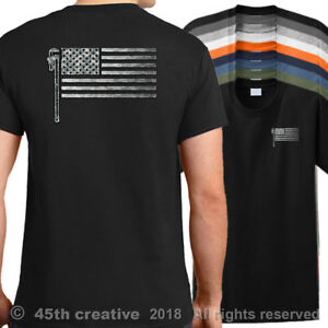 USA Plumbers Flag T-Shirt - american plumbing flag shirt pro usa ...