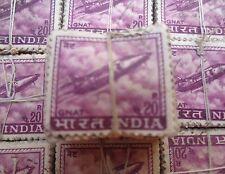 500 Pcs LOT ( 5 Bundles) - 20 Paise - GNAT FIGHTER -  Definitive Stamp - india