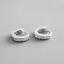 Solido-925-plata-esterlina-Tiny-CZ-Huggie-Pendientes-De-Aro-Brazalete-Media-Eternidad-Con-Bisagras miniatura 2