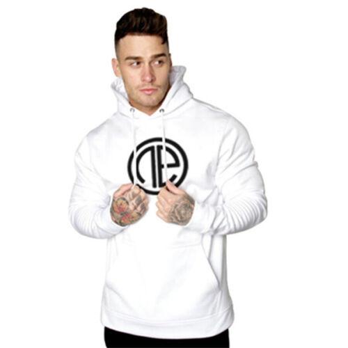 One Athletic Hoodie Men/'s Bodybuilding Long Sleeve Sweatshirt Gym Shirt Pullover