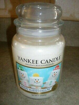 New Yankee Candle MERRY MARSHMALLOW 22 oz Large Jar Candle Set of 2