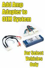 Acura RL TL RSX MDX TSX CL Add An Amp Amplifier Adapter Interface to OEM Radio