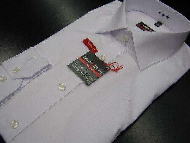 -Marvelis-Herren Hemd 100%Baumwolle Bügelleicht  Body Fit   69er Arm extra lang