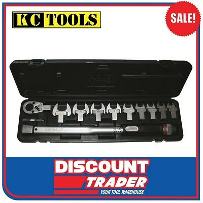 """KC Tools 11Pc. 1/2"""" Drive Torque Wrench Set 40-200Nm Interchangeable Heads - H70"""