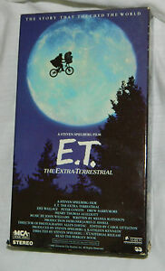 Classic E.T. The Extra-Terrestrial (VHS,) with Paper Sl
