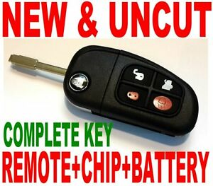 NEW-UNCUT-FLIP-TRANSPONDER-CHIP-KEY-REMOTE-FOR-JAG-KEYLESS-ENTRY-TRANSMITTER-FOB