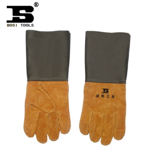 BOSI 100/% Top Layer Leather Exquisite Durable Antistatic  Welding Glove