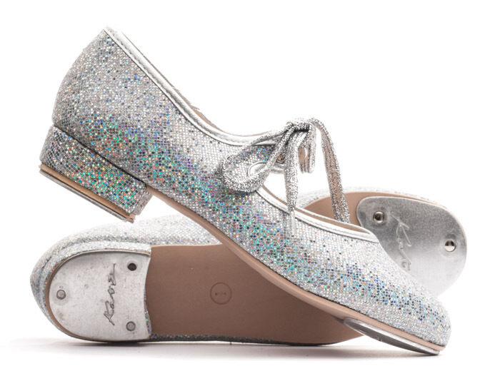 Girls Ladies All Colours Glitter Low Heel Tap Dance Shoes By Katz Dancewear