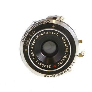 Vintage-Schneider-Kreuznach-90mm-f-6-8-Angulon-Compur-Rapid-Lens-UG
