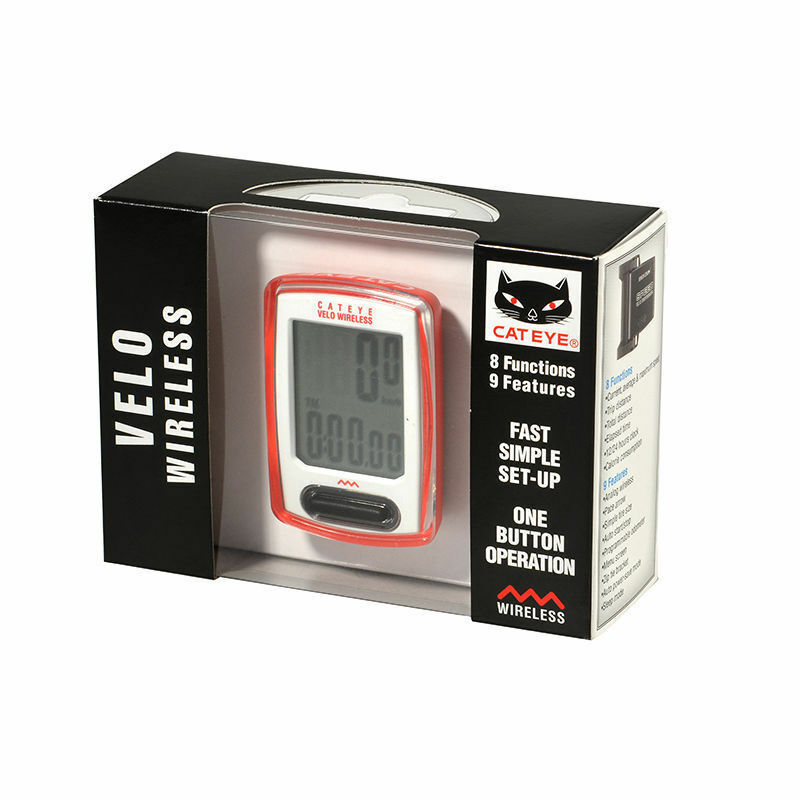 CATEYE CC-VT230W Cycling Computer Wireless Digital Speedometer Red 8 Functions