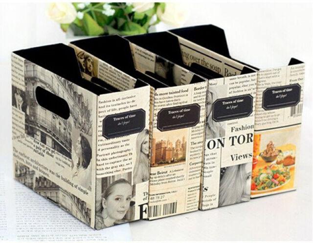 Paper Board Newspaper Storage Box Stationery Makeup Cosmetic Organizer AU4 BD