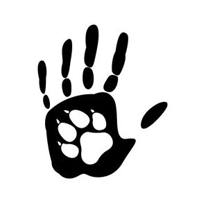 b6cd303f33fa Hand and Paw print vinyl decal sticker for Car/Truck Window Bottle ...