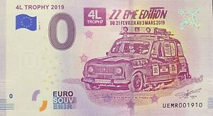 BILLET-0-EURO-4L-TROPHY-2019-22eme-EDITION-FRANCE-2019-1-NUMERO-DIVERS