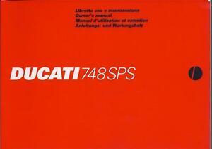 1998 Ducati 748SPS NOS 91370471A original 224 page owners manual mint condition