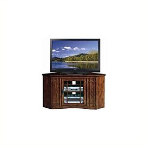 Leick Furniture 82285 Mission 46 Corner Tv Stand Mission Oak Ebay
