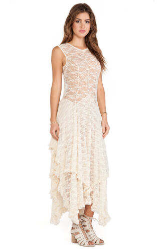 NWT $98 Free People French Courtship Lace Dress Tea Ivory